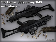 Lamas G36c on my XM8 anims...