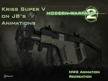 Kriss Super V on MW2 looks like anims