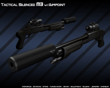 Tactical Silenced M3 w/aim