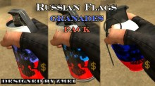 Russian flag granades pack